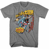 Bill And Ted Swoopy Japanese Text Graphite Heather T-Shirt