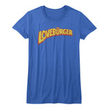 Can't Hardly Wait Loveburger Royal Junior Women's T-Shirt