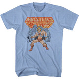 Masters Of The Universe He-Man Light Blue Heather T-Shirt