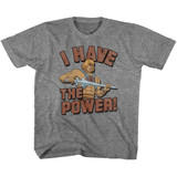 Masters Of The Universe The Power Graphite Heather Youth T-Shirt
