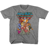 Masters Of The Universe The Whole Gang Graphite Heather Youth T-Shirt