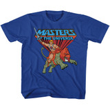 Masters Of The Universe Ride Into Battle Royal Youth T-Shirt