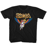 Masters Of The Universe She Ra And Swiftwind Black Youth T-Shirt