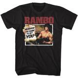 Rambo You Won't Believe Black T-Shirt