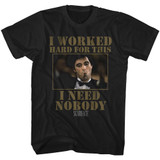Scarface Nobody Black T-Shirt