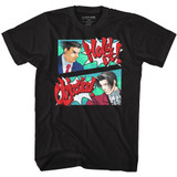 Ace Attorney Hold The Objection Black Adult T-Shirt
