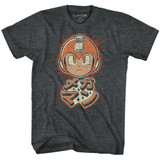 Mega Man Mega Retro Black Heather Adult T-Shirt
