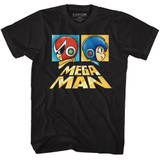 Mega Man Boxy Black Adult T-Shirt
