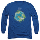 Yes Fragile Cover Long Sleeve Adult 18/1 T-Shirt Royal Blue
