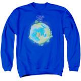 Yes Fragile Cover Adult Crewneck Sweatshirt Royal Blue