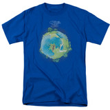 Yes Fragile Cover S/S Adult 18/1 T-Shirt Royal Blue