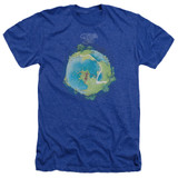 Yes Fragile Cover Adult Heather Royal Blue