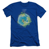 Yes Fragile Cover S/S Adult 30/1 T-Shirt Royal Blue