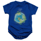Yes Fragile Cover Infant Baby Snapsuit Romper Royal Blue