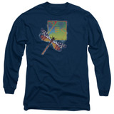 Yes Dragonfly Long Sleeve Adult 18/1 T-Shirt Navy