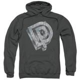 Deep Purple DP Logo Adult Pullover Hoodie Sweatshirt Charcoal