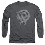Deep Purple DP Logo Adult Long Sleeve T-Shirt Charcoal