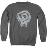 Deep Purple DP Logo Adult Crewneck Sweatshirt Charcoal