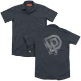 Deep Purple DP Logo (Back Print) Adult Work Shirt Charcoal