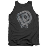 Deep Purple DP Logo Adult Tank Top T-Shirt Charcoal