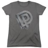 Deep Purple DP Logo Women's T-Shirt Charcoal
