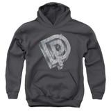 Deep Purple DP Logo Youth Pullover Hoodie Sweatshirt Charcoal