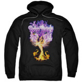 Deep Purple Phoenix Rising Adult Pullover Hoodie Sweatshirt Black