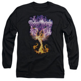 Deep Purple Phoenix Rising Adult Long Sleeve T-Shirt Black