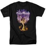 Deep Purple Phoenix Rising Adult 18/1 T-Shirt Black