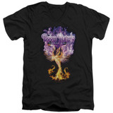 Deep Purple Phoenix Rising Adult V-Neck T-Shirt Black
