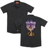 Deep Purple Phoenix Rising (Back Print) Adult Work Shirt Black