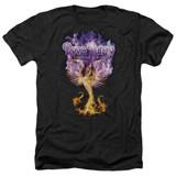 Deep Purple Phoenix Rising Adult Heather T-Shirt Black