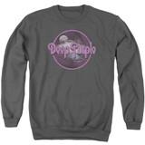 Deep Purple Smoke On The Water Adult Crewneck Sweatshirt Charcoal