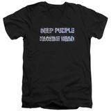 Deep Purple Machine Head Adult V-Neck T-Shirt Black