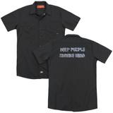 Deep Purple Machine Head (Back Print) Adult Work Shirt Black