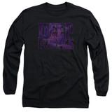 Deep Purple Spacey Adult Long Sleeve T-Shirt Black