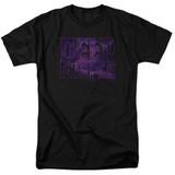 Deep Purple Spacey Adult 18/1 T-Shirt Black