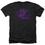 Deep Purple Spacey Adult Heather T-Shirt Black