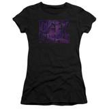 Deep Purple Spacey Junior Women's Sheer T-Shirt Black