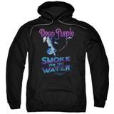 Deep Purple Smokey Water Adult Pullover Hoodie Sweatshirt Black