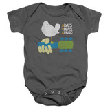 Woodstock Perched Infant Baby Snapsuit Romper Charcoal
