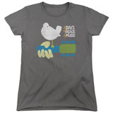 Woodstock Perched S/S Women's T-Shirt Charcoal