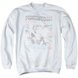 Woodstock Rider Adult Crewneck Sweatshirt White