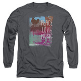 Woodstock Plm Long Sleeve Adult 18/1 T-Shirt Charcoal