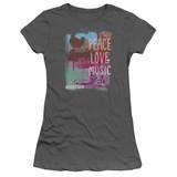Woodstock Plm S/S Junior Women's T-Shirt Sheer Charcoal
