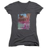 Woodstock Plm Junior Women's T-Shirt V Neck Charcoal