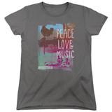 Woodstock Plm S/S Women's T-Shirt Charcoal