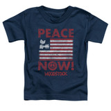 Woodstock Peace Now S/S Toddler T-Shirt Navy