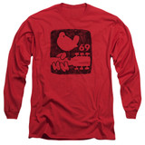 Woodstock Summer 69 Long Sleeve Adult 18/1 T-Shirt Red