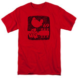 Woodstock Summer 69 S/S Adult 18/1 T-Shirt Red
